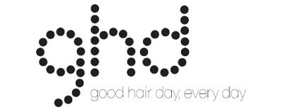 logo de ghd, une marque de fer à lisser
